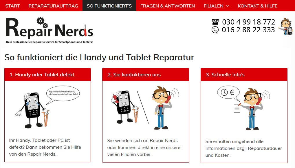 Repair Nerds - So funktioniert die Handy Reparatur